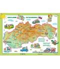 Detská mapa sveta/Cestujeme po SR, A3