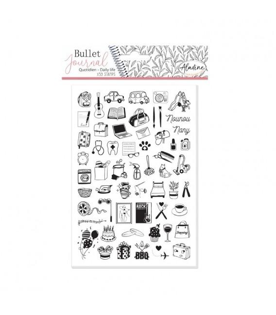 Pečiatky Bullet Journal - Môj deň