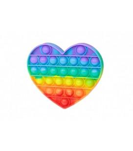 Dúhové srdce Bubble Pops bubliny