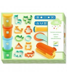 Plastelína pre najmenších s nástrojmi (zeleno-oranžová)