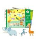 Nálepkový set Zvieratá (znovupoužiteľné samolepky)