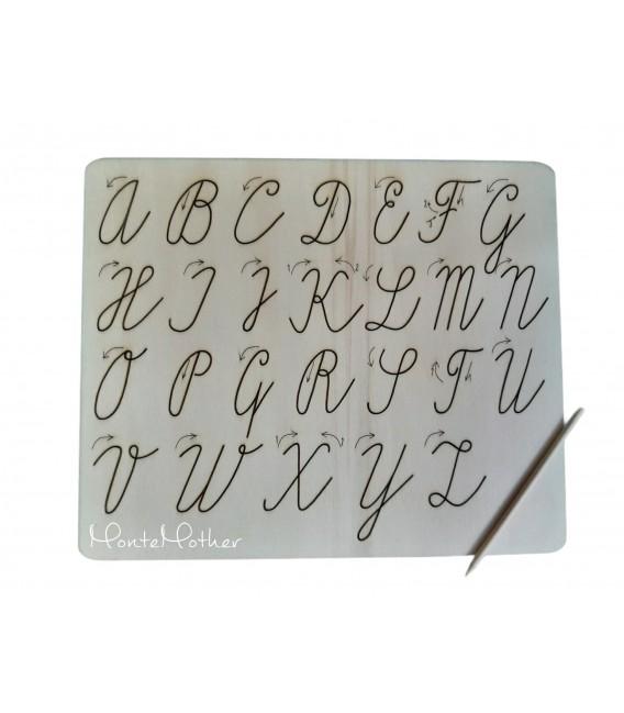 Grafomotorická tabuľka na obťahovanie písmen - veľká písaná abeceda
