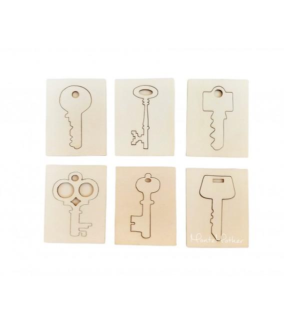 Puzzle na vkladanie - kľúče