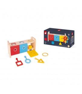 Vkladanie a triedenie s kľúčikmi a zámkami séria Montessori Janod