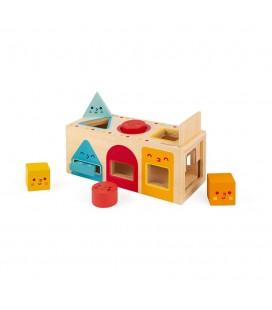 Drevená vkladačka Montessori Tvary Janod