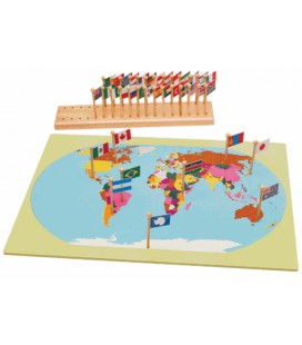 Montessori mapa sveta s vlajkami